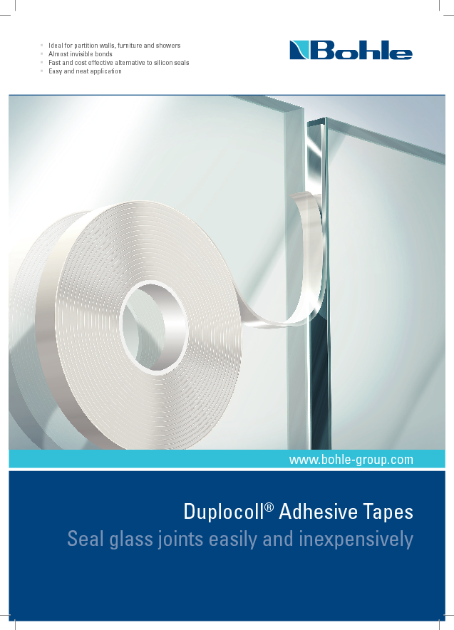 Duplocoll® Adhesive Tapes - Seal glass joints easily and inexpensively.pdf