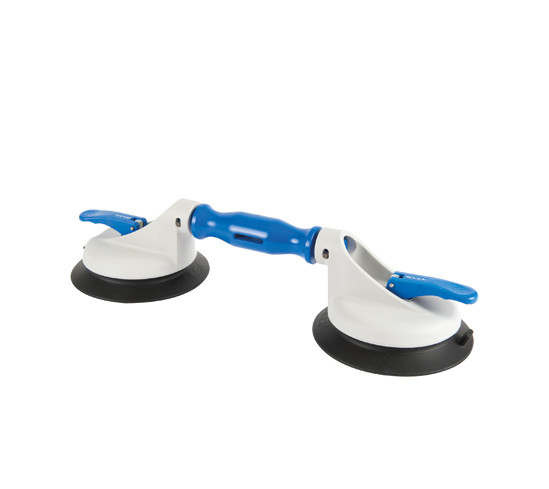 Veribor® 2-cup suction lifter with swivel heads and large rubber pads, made of plastic