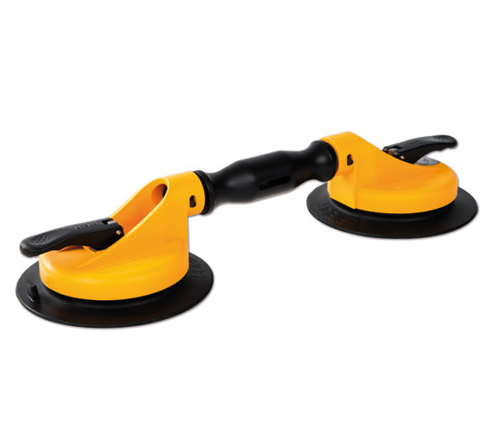 Veribor® Suction Lifter with 2 Plastic Swivel Heads and Large Rubber Pad
