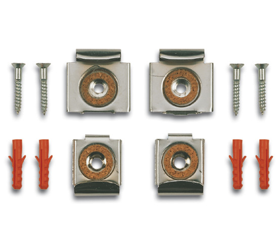 Mirror Clips with spring for a mirror surface of up to 1.2 m² (12.92 ft²)