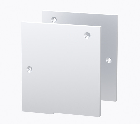 Bohle MasterTrack FT Cover Caps set for Ceiling mounting with Fixed Sidelight