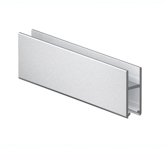 Slide rail profile 5 - 8 mm Glass