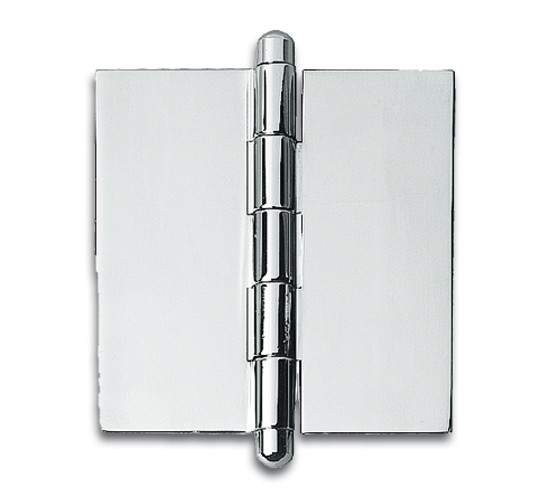 "Glass Door Hinge 2-9/16"" x 3-1/8"" (65 x 80 mm) for inset doors"