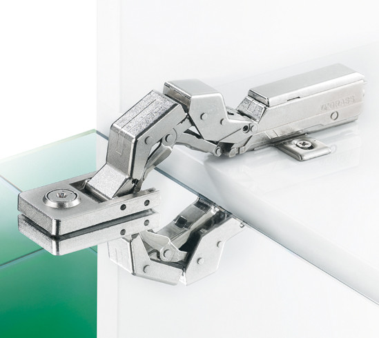 Glass Door Hinge Tiomos Mirro 125° linear mounting plate