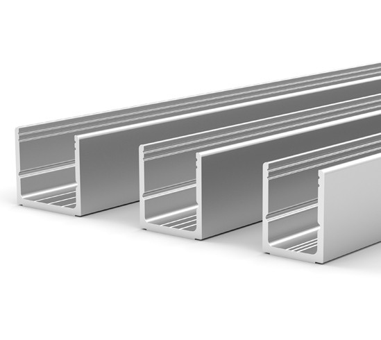 U-Channels for two-piece clamp-on profile