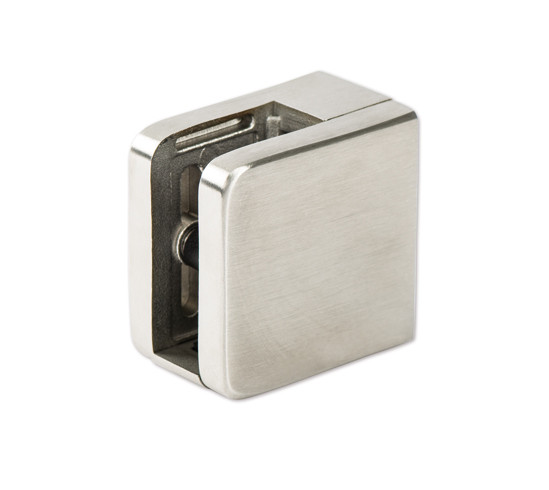 """Clamp angular 45 x 45 mm, brass, white for square tubes for 1/4"""" - 7/16"""" (6 - 10.76 mm)"""